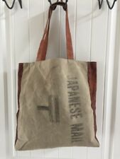Rare WwII Era Japanes Mail Internment Camp Mail Carriers Bag