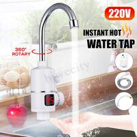 3000W LED Robinet Electrique Instantané Chauffe-eau Chauffage Mitigeur Cuisine
