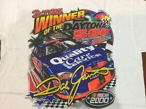 2000 Vintage NASCAR Dale Jarrett Ford Quality Care Jumbo Print Shirt  NOS XXL