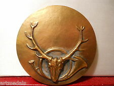 FRENCH ANIMALS BRONZE ART MEDAL HUNTING CHASSE DEER