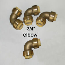 4  piece Lot  Sharkbite Style 3/4  inch Push Fit Elbows