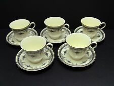 Minton GRASMERE BLUE Cups and Saucers / Set of 5