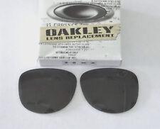 Neuf Oakley Argent Lunettes de Soleil Rondes Authentique Oakley Lentilles Grises