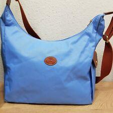 Longchamp Hobo Bag Wickeltasche Umhängetasche crossbody hellblau original