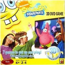 SpongeBob SquarePants 3D DVD Game NIB Nickelodeon NIP 4 Pairs of 3D Glasses