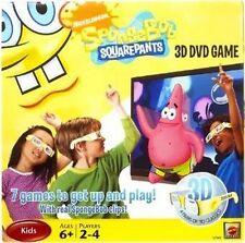 SpongeBob SquarePants 3D Dvd Game Nib Nickelodeon Nip 4 Pairs of 3D Glasses