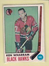 1969-70 O PEE CHEE HOCKEY KEN WHARRAM #74 BLACK HAWKS VGEX *62714