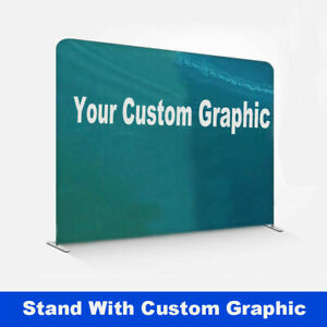 10ft Custom Straight Tension Fabric Trade Show Display Booth Back Wall Party