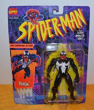 "VINTAGE MARVEL TOYBIZ VENOM ACTION FIGURE MOC SPIDER-MAN ANIMATED SERIES 1994 5"""