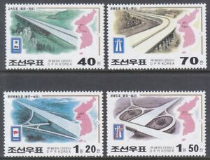 Korea (N) - 2001 - MNH - (Stamp 4450-4453) Roads