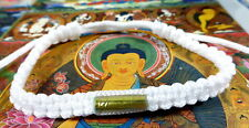 Buddha PURE WHITE SAI SIN BRACELET blessed by Buddhist Monk. PROTECTION & LUCK