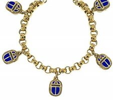 Reproduction of the Egyptian 5-charm Scarab Bracelet From Our Museum Collection