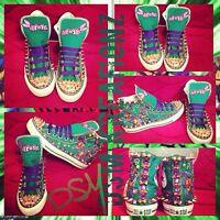 Custom TMNT Converse All Star Chuck Taylor Shoes - Donatello Edition