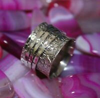 925 Sterling Silver Band & Solid Spinner Ring Handmade Jewelry All Size b-14
