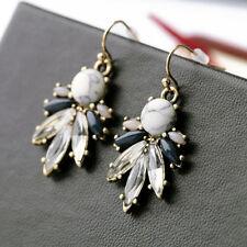 1 Pair Fashion Women Crystal Rhinestone Dangle Hook Ear Stud Earrings Jewelry