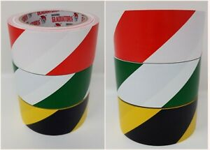 50mm x 30m Strong Hazard Safety Caution Warning AdhesiveTape Various Colours