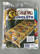 Vintage Signs of the Zodiac Funcloth Plastic Tablecloth NOS 76x42 Party Decor