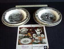 1969 Villeroy & Boch Artemis Hunting Scenes. 2 Deep Plates + 2 Flat Plates