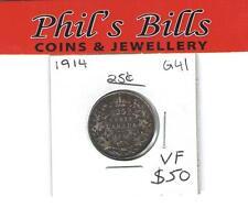 1914 25 CENT GRADED VF $50.00 #G41