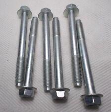 M10 10mm X 1.50 Coarse X 90mm Thread Hex Flange Head Bolt Lot Of 6 Bolts