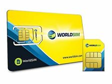 Worldsim carte SIM internationale-y compris £ 10 crédit