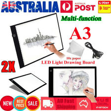 2x Ultra Thin A3 LED Board Craft Tracing Drawing Stencil Table Pad Light Box