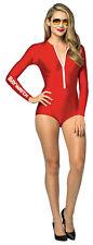 Baywatch Female Lifeguard Suit Adult Costume Bodysuit Fancy Dress Rasta Imposta