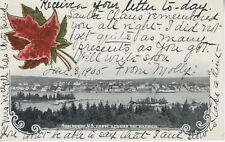 Shelburne NS Nova Scotia From Across the Harbor Town View c1905 Vintage Postcard