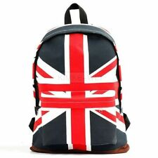 UK British Flag Union Jack Style Backpack Shoulder School Bag BackPack Canvas