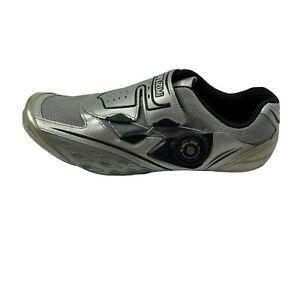Pearl Izumi Flow R2 Shoe Women's Size 7.5 Performance Road Cycling Biking Silver