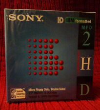 Sony HD IBM Formatted Micro Floppy Disk Pack of 10 10FMD-2HD 3.5 FACTORY SEALED