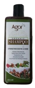 Agor Organic Hair Shampoo (Strengthen Soothe & Shine) 500ml Prevents Hair loss