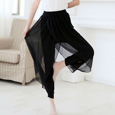 Hot 2017 Fashion Women Ladies Casual Loose Chiffon Harem Pants Plus Size Black D