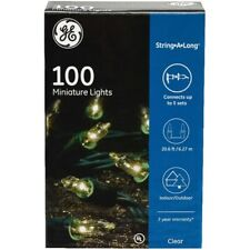 GE 100 Clear Miniature Lights On Green Wire String-A-Long 20.6 Ft Wedding Decor