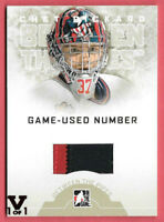 2015-16 Chet Pickard ITG Final Vault 2008-09 Between the Pipes Numbers Patch 1/1