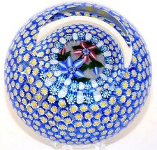 STUNNING Magnum DEACONS 1001 Daisies PORT HOLE Encased Art Glass PAPERWEIGHT