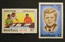 Timbre SAINTE LUCIE - Yvert et Tellier n°825 et 826 n** Mnh (Cyn31) Stamp