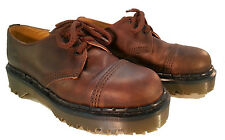💥 Dr. Martens Doc England Vintage Brown Leather Cap Toe Shoes UK 4 US 6 💥