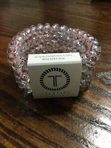 Brand New Teleties 3 Pack Large Hair Ties Party people  Holder Bracelets