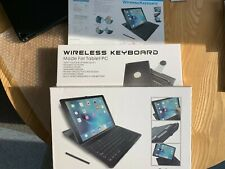 ipad pro wireless keyboard and case 12.9 Black with integral pen