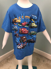 NWT Boys Disney Collection S/S Blue Pixar Cars Tee T-Shirt Sz Small 5/6