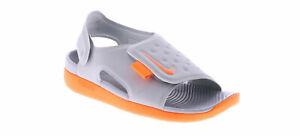 NIKE SUNRAY ADJUST 5 (GS/PS) kids gray sandals boys girls sz 2 Youth NWT