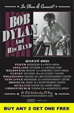 BOB DYLAN 2018  Laminated Australian Tour Poster