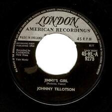 JOHNNY TILLOTSON Jimmy's Girl Vinyl Record 7 Inch London HL-A 9275 1960
