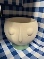 Bath & Body Works Ceramic Face Pedestal 3-Wick Candle Holder