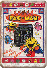 """Super Pac-Man Namco Video Game Ad 10"""" x 7"""" Reproduction Metal Sign"""