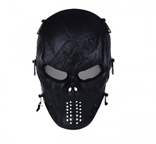 OutdoorMaster Masks Skull Skeleton Airsoft BB Gun CS Full Face Protect Black