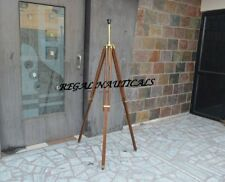 Antique Design Tripod Lamp Stand Brown Wood-Stand Home Decor & Tripod Stand