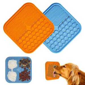 Pet Lick Pad Slower Feeder Cat Dog Lick Mat Pet Bath Lick Mat Silicone Dispenser