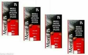 4 X Morr-F (Minox 5% / Fin 0.1%) For - Hair Regrowth DHT Blocker Herbal - 60ml
